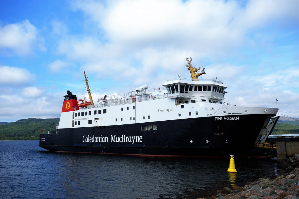 M.V. Finlaggan at Kennacraig, Scotland