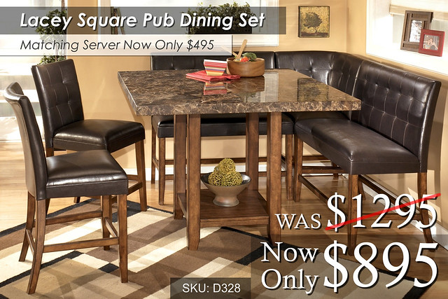 Lacey Pub Square Dining Set D328