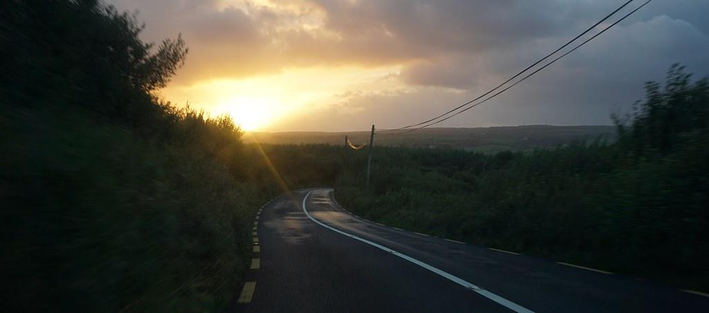 Sunset in Shannon, Ireland