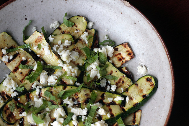 Grilled Zucchini with lemon and feta I