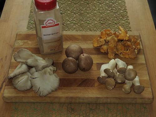 Pilze für Tofu-Pilz-Pfanne