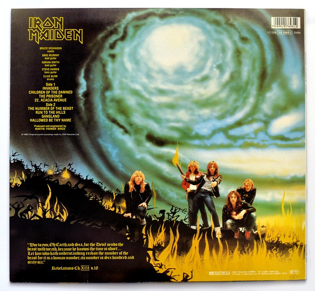 A0301 IRON MAIDEN The number of the Beast (EEC