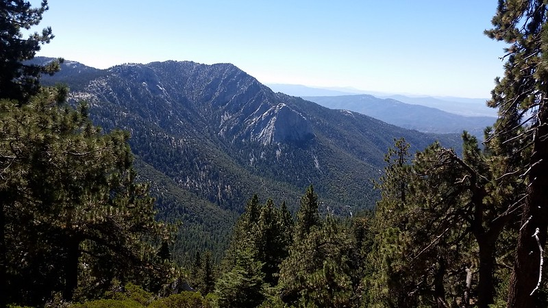 View of Tahquitz and Lily Rock from the PCT near Strawberry Cienega