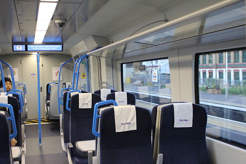 Interior of First Class of Thameslink 700104