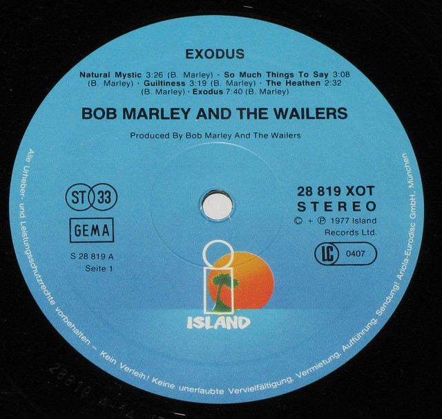 BOB MARLEY THE WAILERS EXODUS w/CUSTOM SLEEVE