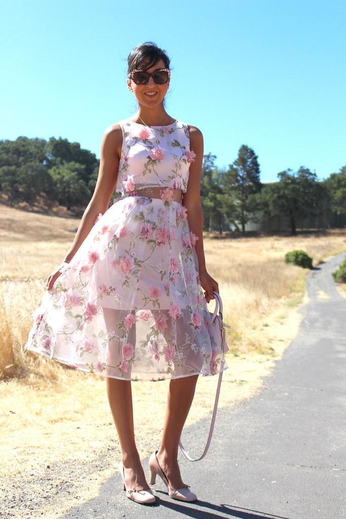 3D Floral Dress 5