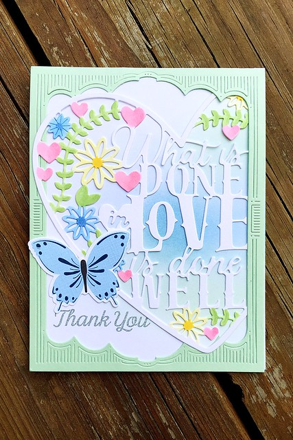 Marquee Cover Plate and Paper Clipping What is Done in Love by Papertrey Ink