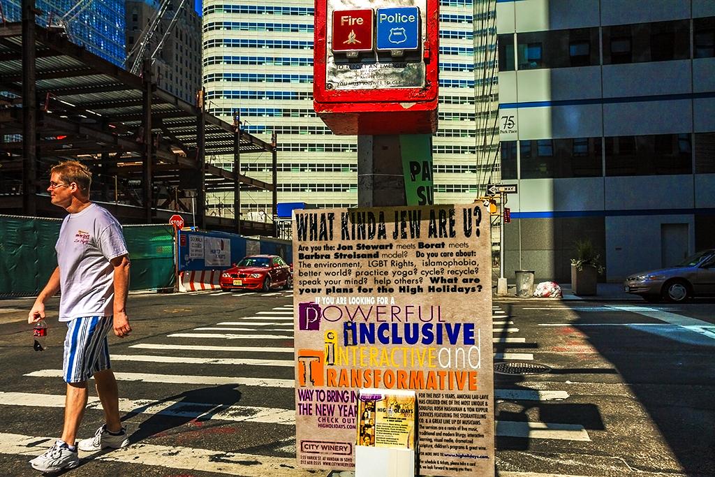 WHAT KIND OF JEW ARE U on 9-4-10--Manhattan