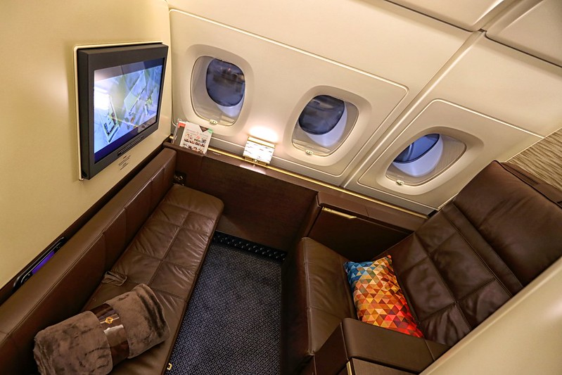 Etihad A380 First Class Apartment tv