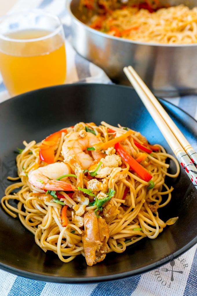 Asian-Style Stir Fried Egg Noodles