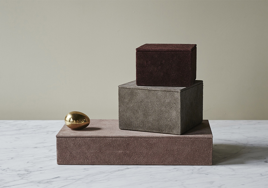 AMM blog | Suede boxes and the colors of Fall