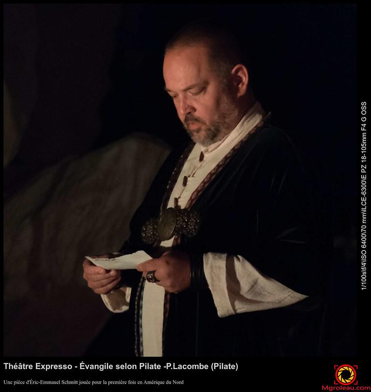 Théâtre Expresso - Évangile selon Pilate -P.Lacombe (Pilate)