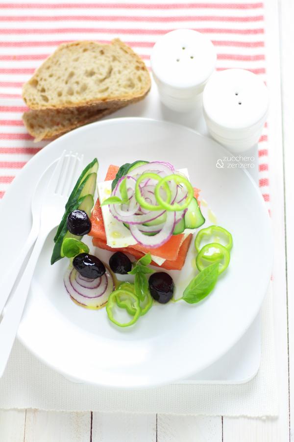 Insalata greca con anguria