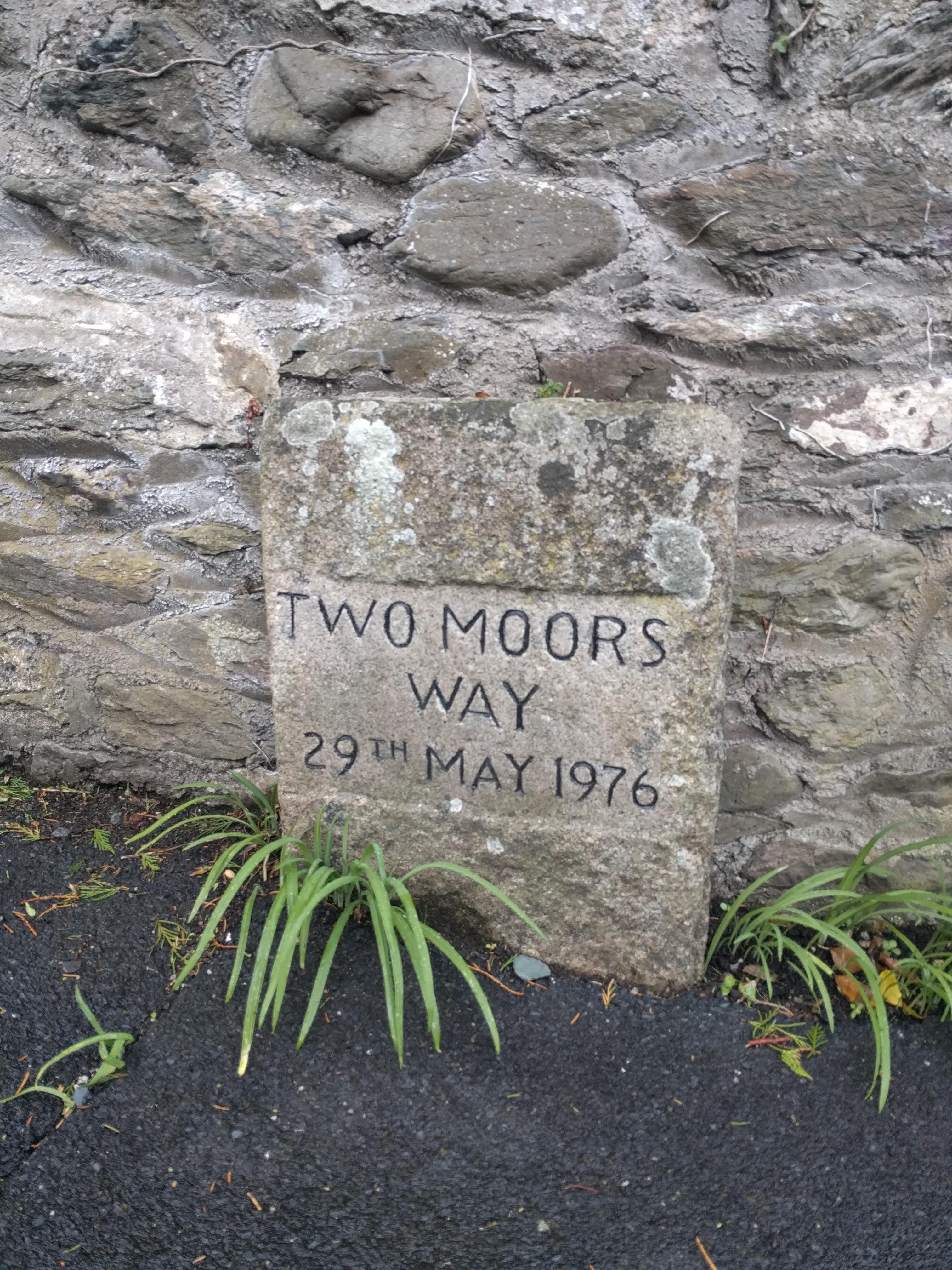 Marker stone near start #sh #twomoorsway #DevonC2C