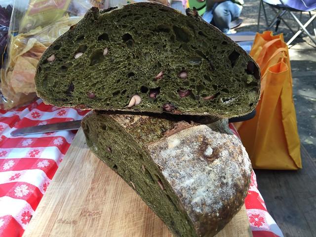 Matcha/Kuromame Bread