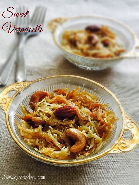 Sweet Vermicelli Recipe for Toddlers and Kids3
