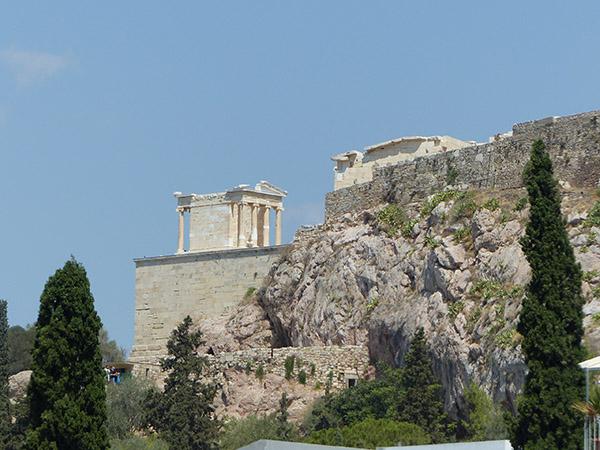 vue sur le temple d'athéna niké
