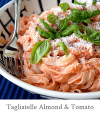 Tagliatelle with Almond & Tomato Sauce