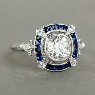 11193VB-bague-de-fiançailles-diamant-et-saphir-artistique-2
