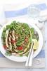 Insalata di lenticchie, avena e melanzane grigliate