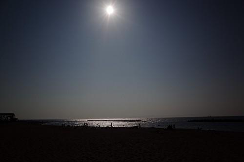 夕暮れの青山海岸でサンシャイン日本海を聴く