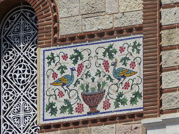 fresque orientale au Pirée