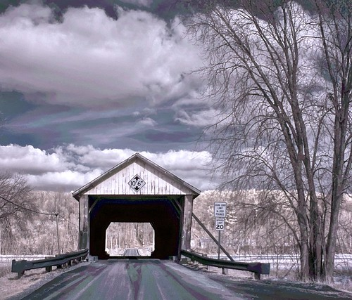 Depot Covered Bridge Infrared The Depot Bridge Was