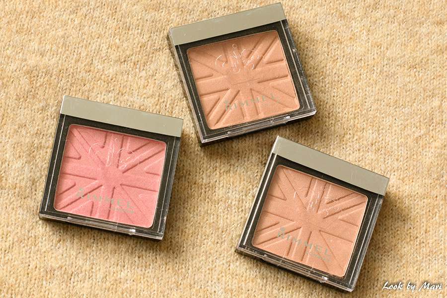 3 Rimmel lasting finish soft colour blush swatches