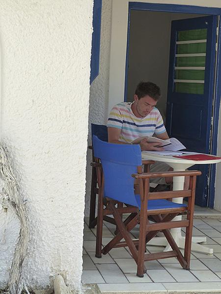 un travailleur à Naxos