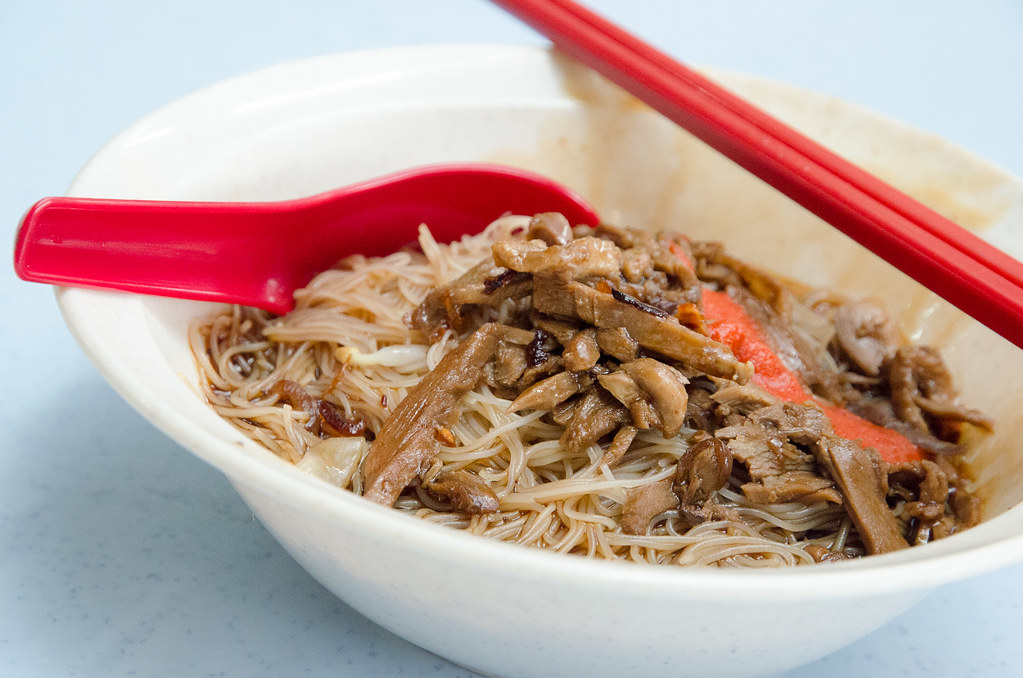 A closer look on the duck noodle.