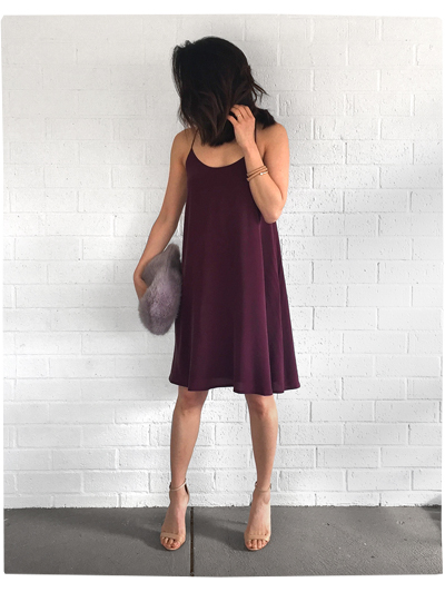 Grana Silk Racerback Dress