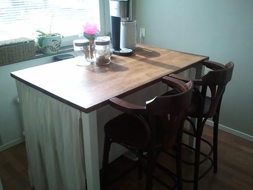 Ikea stenstorp kitchen island linen curtains on 3 sides s flickr - Stenstorp kitchen island for sale ...