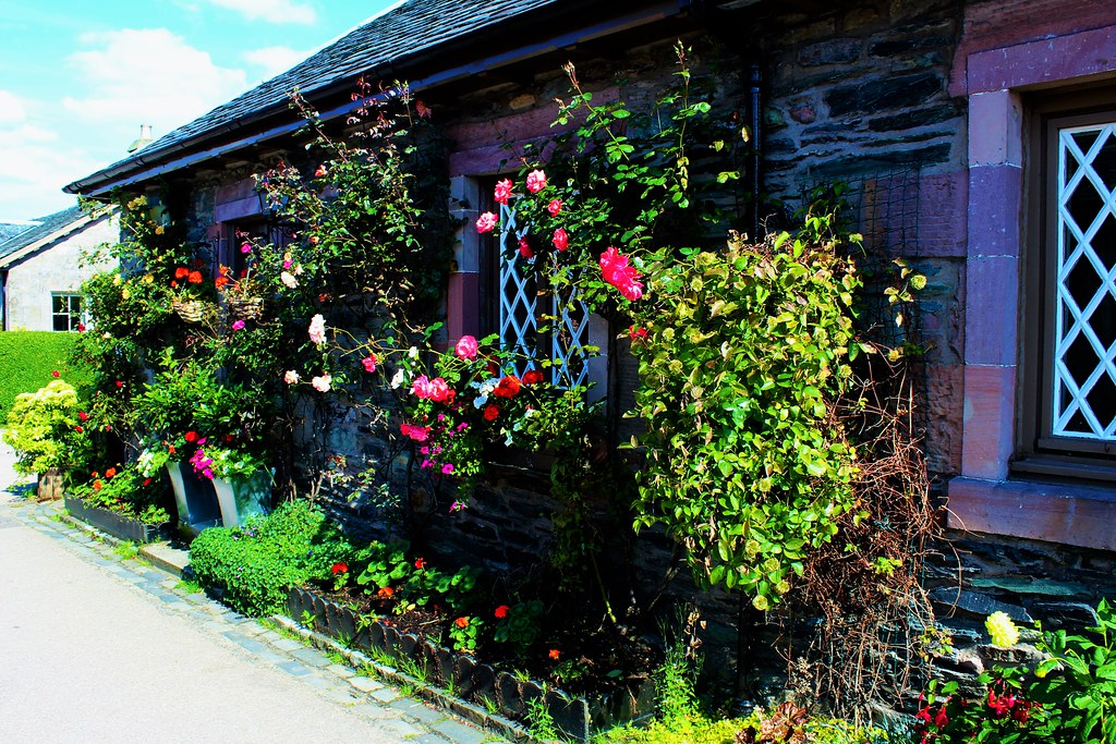 Colourful Cottage at Luss, Scotland.