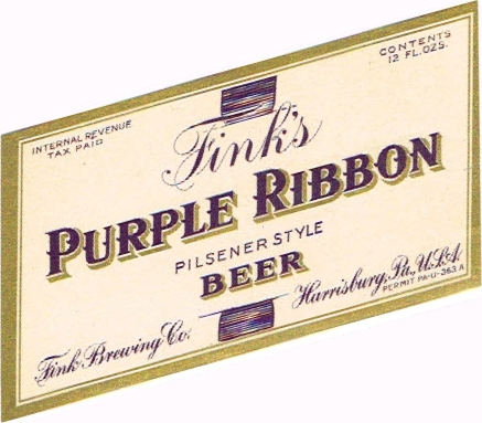 Finks-Purple-Ribbon-Beer-Labels-Fink-Brewing-Company