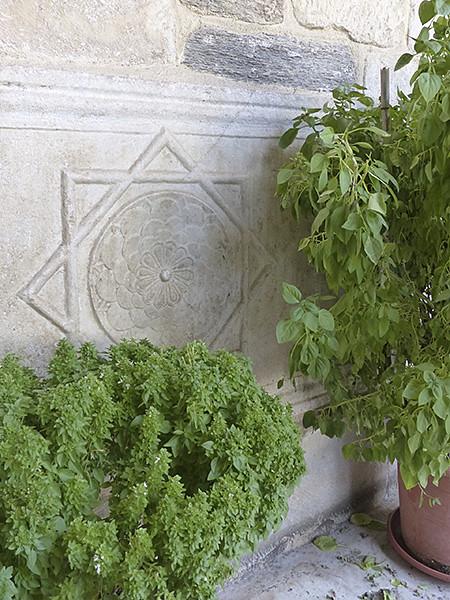 basilic dans la basilique de Paros