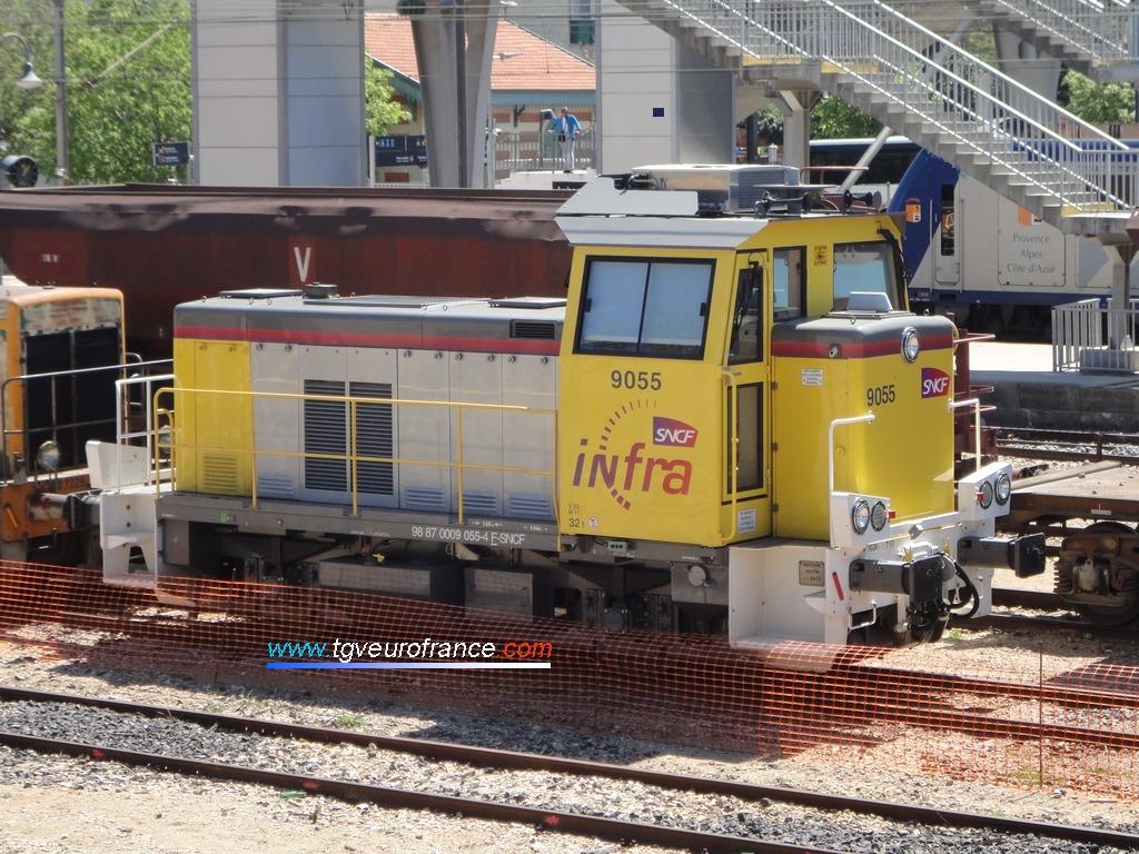 Le locotracteur Y9055 de SNCF Réseau à Aubagne-en-Provence