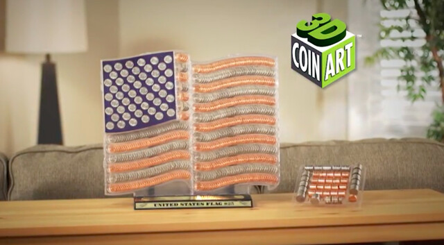 3D Coin Art American Flag