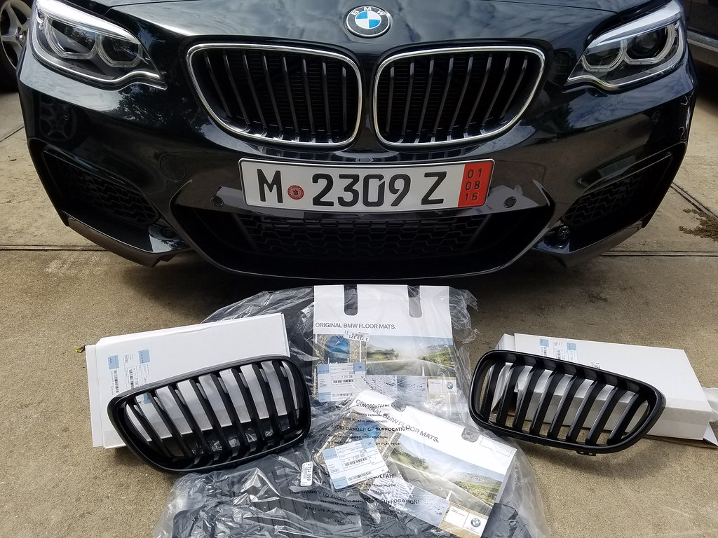 Below are the part numbers for the grilles bmw m performance black kidney grille