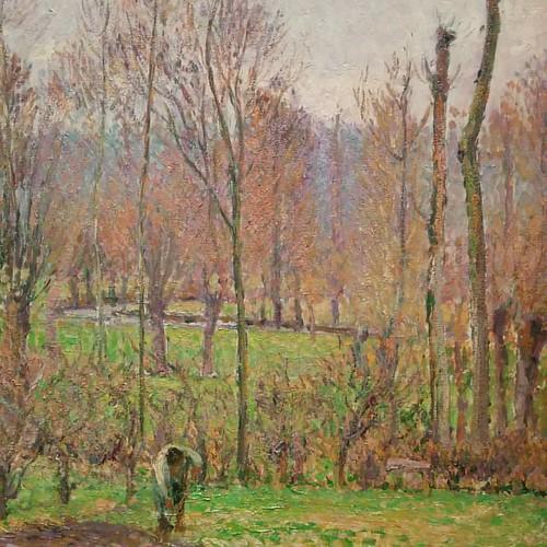From Poplars, Grey Weather, Éragny, Camille Pissarro #toronto #ago #artgalleryofontario #camillepissarro