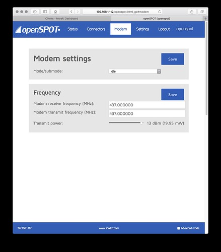 openSPOT Modem