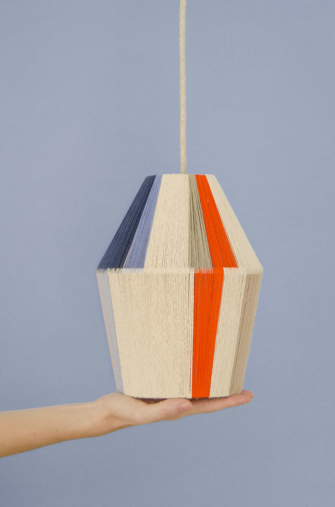 DIY Lámpara tejida · DIY Woven lamp · Fábrica de Imaginación · Tutorial in Spanish