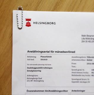 new job, helsingborg