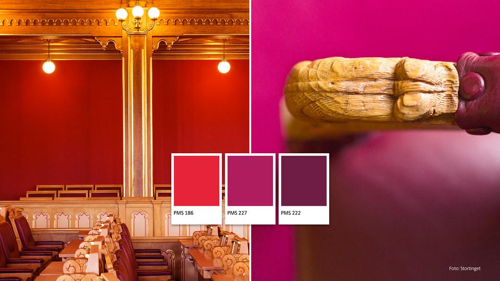 Designelementer i Stortingets visuelle identitet