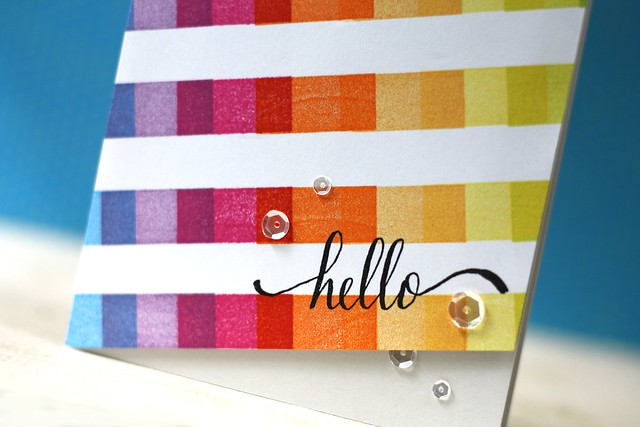 Yay Stripes & Hello World-Catherine Pooler Designs