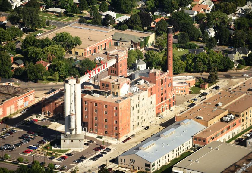 cst 07217 aerial shot of Schmidt Brewery