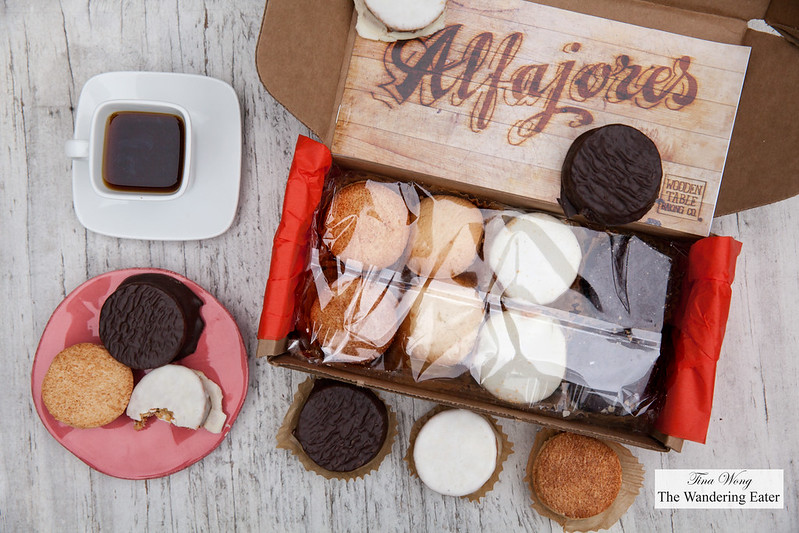 Wooden Table Alfajores Sampler Box