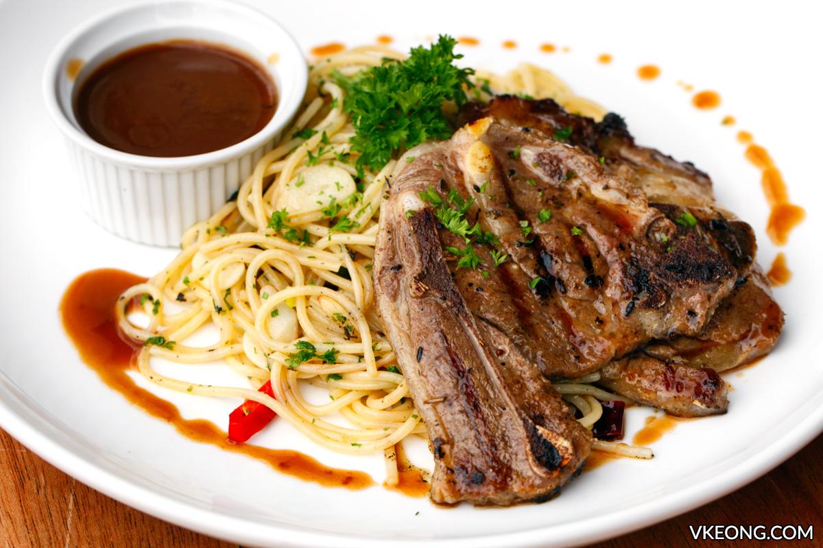 Tryst Lamb Chop Spaghetti