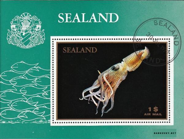 Známky Sealand 1970 Ryba, razÃ-tkovaný hárÄek