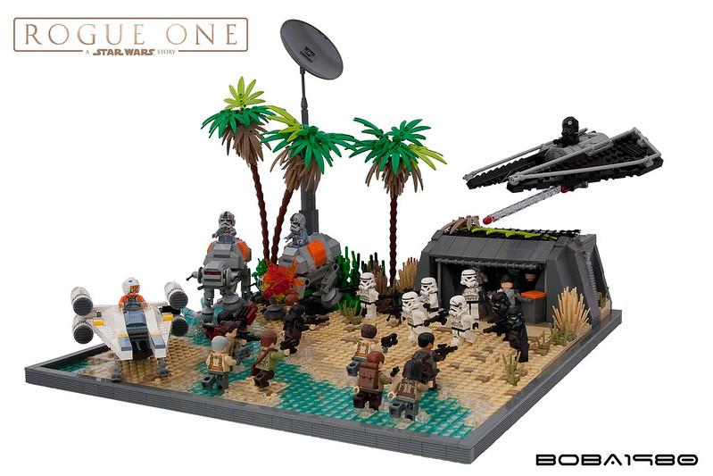 moc rogue one rebel attack on scarif lego star wars. Black Bedroom Furniture Sets. Home Design Ideas