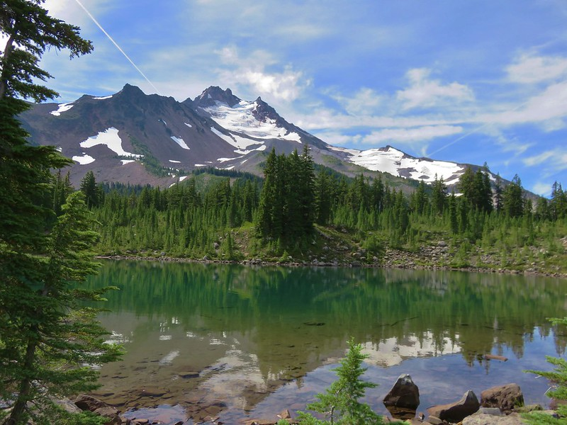 Mt. Jefferson from Scout Lake